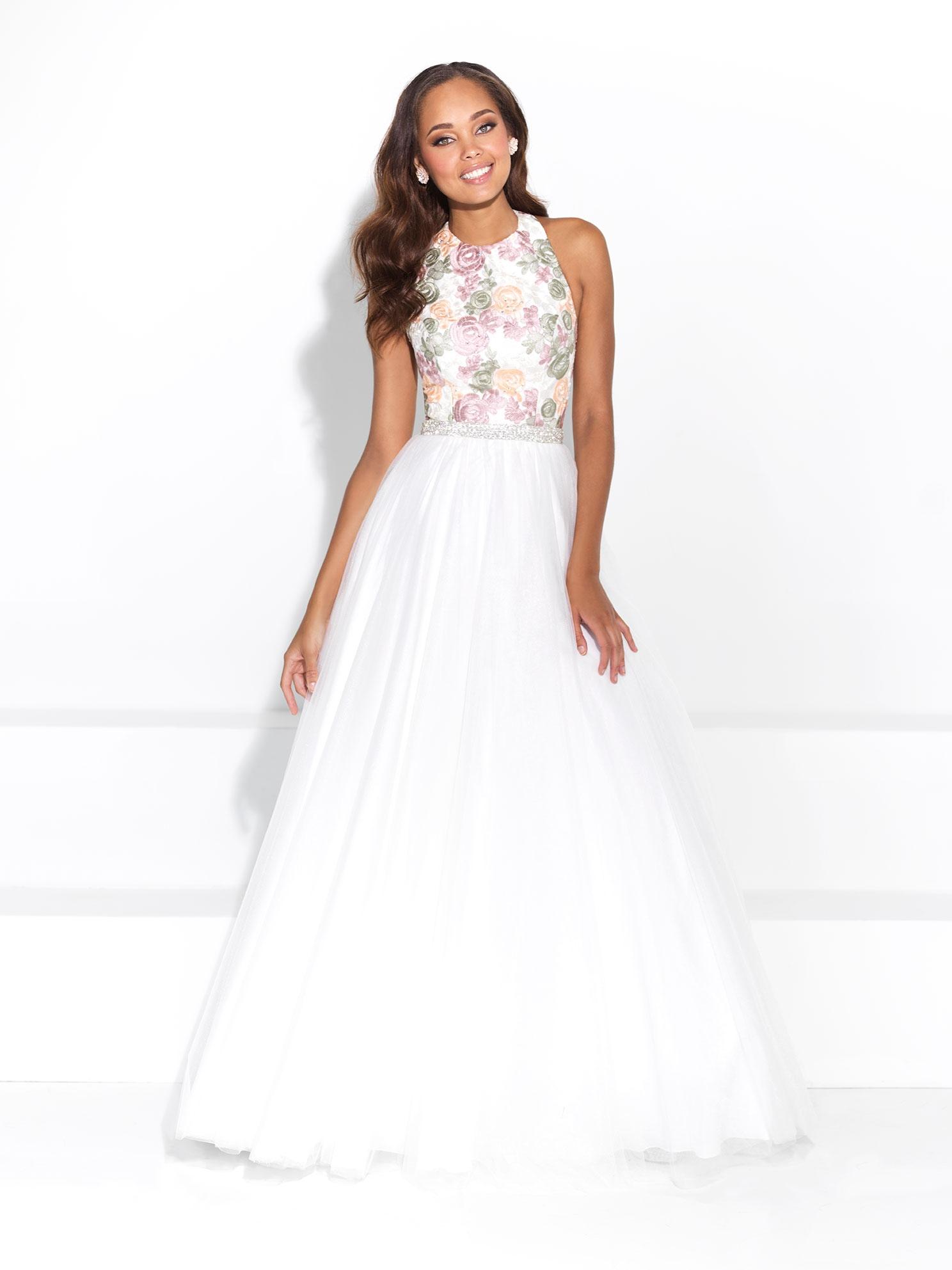 Spoločenské šaty   MJ 17-281 Biele 093c341644d